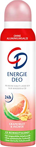 CD Deo Spray Energie – Zuverlässiges Deospray ohne Aluminium für 24 Std Schutz - langanhaltendes Frischegefühl mit Grapefruit und Ingwer – 3er Vorratspack (3 x 150 ml)