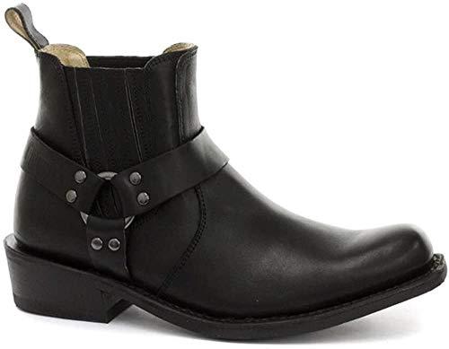 Grinders Unisex Stiefel Boots Echtleder Biker Stil Rock Punk Cowboy Design