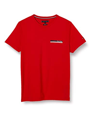 Tommy Hilfiger Herren Th Cool Small Corp Chest Tee Hemd, Rot, XXX-Large