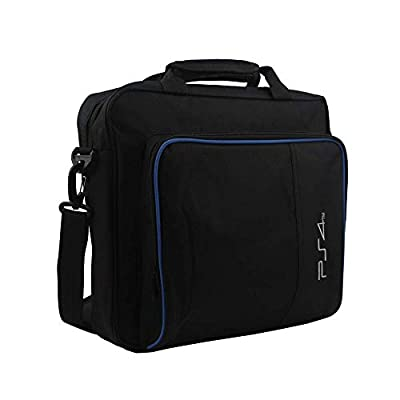 VANFIT Game System Case Backpack,Travel Game System Carrying Case Storage Bag for Playstation 4 System and Accessories-Fits PS4 - Black