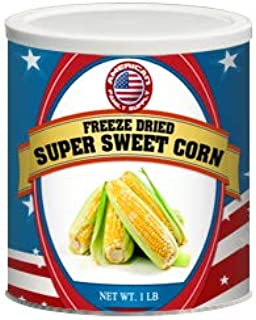 Fresh and Honest Foods 100% All Natural Freeze Dried Sweet Corn 16 OZ #10 Can