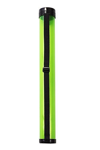 Juvale Poster Tube with Strap � Plastic Storage Tube, Document Tube, Plastic Poster Tube Art Carrying Case Holder for Artwork, Blueprints, Drawings, Paintings � Clear Green, 26 x 3 Inches