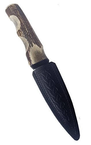 Genuine Stag Handle Sgian Dubh-Made in Scotland