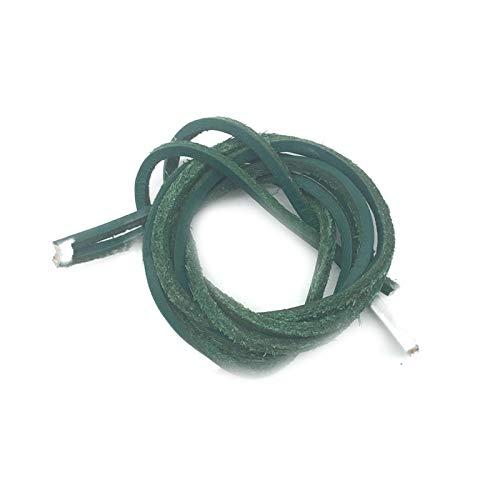 Friendshiy cordones de piel, cordones de capa superior de colores sólidos, cordones de piel, zapatos deportivos, cordones de tipo decorativo., Verde (verde), 160