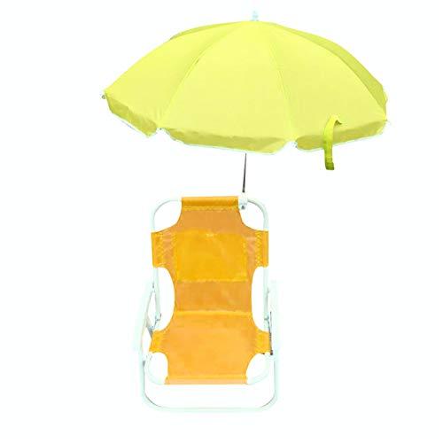 woyada Outdoor Kids Beach Chairs and Umbrellas, Multifunctional Folding Portable Garden Beach Sun Lounger Seat for Children