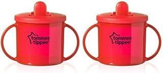 Primera taza color rojo y turquesa 190 ml Tommee Tippee