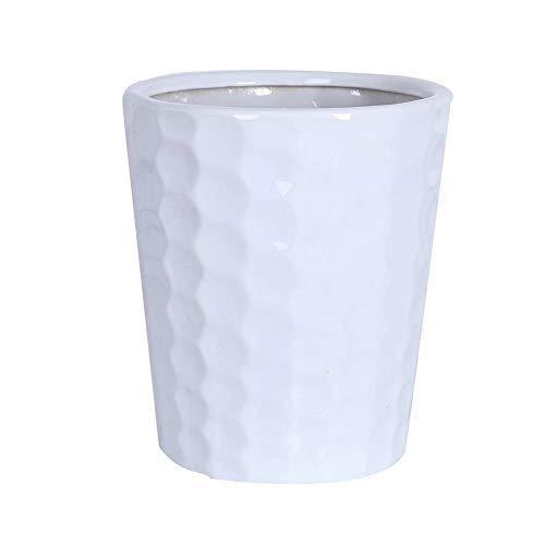 Elegante y atmosférico maceta de cerámica simple maceta en maceta en maceta con bandeja de plástico, macetas blancas para plantas de interior Potes de orquídeas plantadoras de interior, plantación con