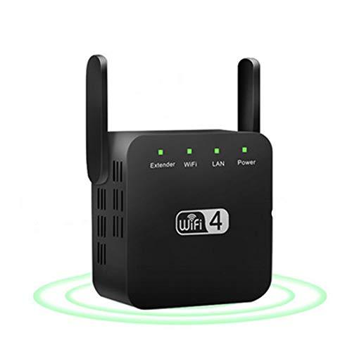 Extensor Wifi de Doble Banda Zen Booster de 2,4 GHz, Repetidor Wifi de Hasta 1200 MBPS Extensor de Rango Wifi de Doble Banda con 2 Puertos Ethernet y 2 Antenas de Alta Ganancia (negro)
