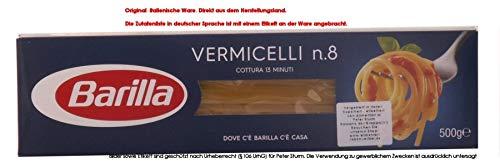 10x Pasta Barilla Vermicelli Nr. 8 italienisch Nudeln 500 g pack spaghetti