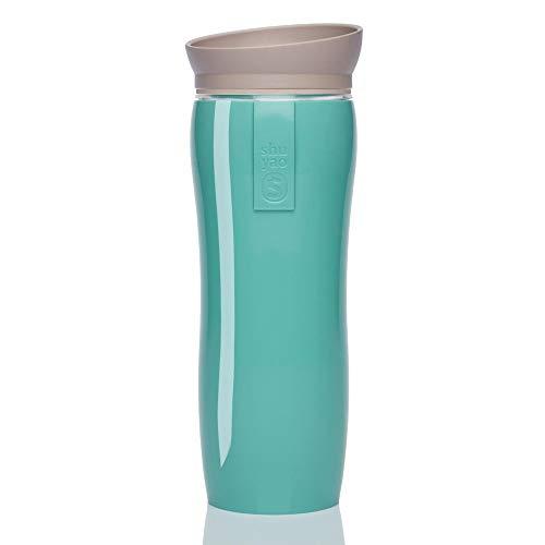 Shuyao Glossy Teamaker Tea to Go blickdichter Thermosbecher Mint (360ml) mit integriertem Teesieb
