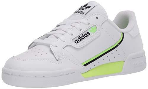 adidas Originals Kids Unisex's Continental 80 Sneaker, FTWR White/Signal Green/core Black, 7 M US Big Kid
