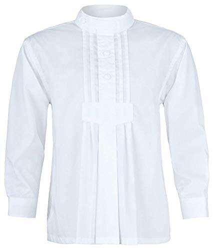 Isar-Trachten Kinder Trachtenhemd, weiß, Gr. 104