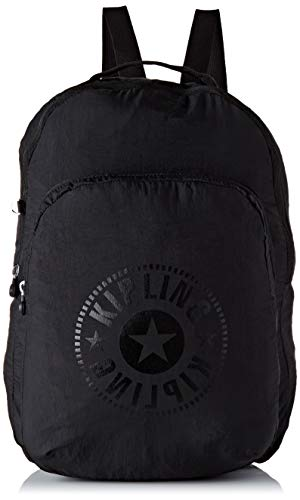 Kipling SEOUL PACKABLE - Mochila escolar, 22.5 liters, Negro (BLACK LIGHT)