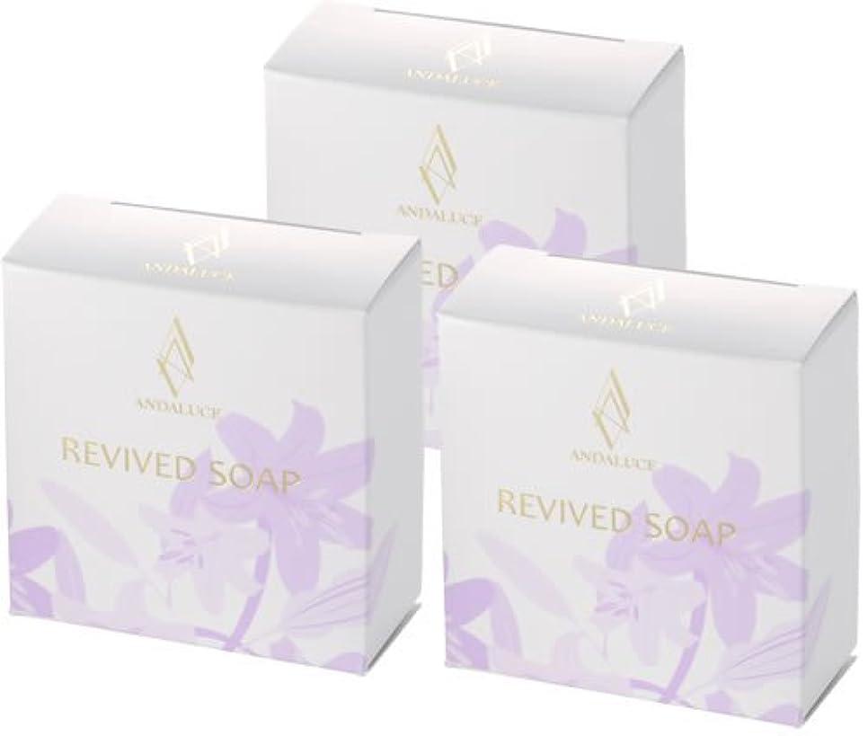 人質繊毛すずめリバイブドソープ~REVIVED SOAP~(至高のAHAフルーツ酸SOAP)100g×3個セット