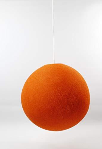 Cotton Ball Lights Lampe suspension 36 cm, coton, Dutch Orange