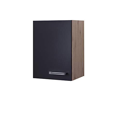 MMR Küchen-Hängeschrank LONDON - Küchenschrank - Oberschrank - 1-türig - 40 cm breit - Anthrazit