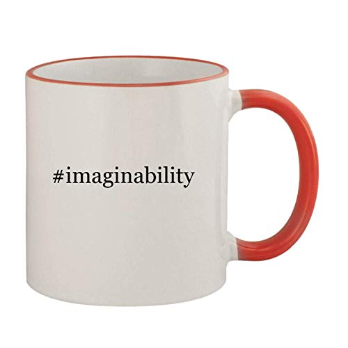 #imaginability - 11oz Ceramic Colored Rim & Handle Coffee Mug, Red