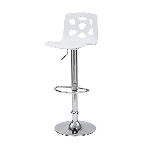 CRIBEL Manchester Sgabello, Polipropilene/Metallo Cromato, Bianco, 34x41x104 cm