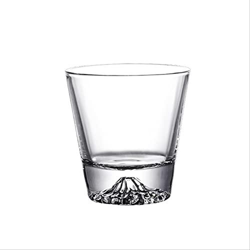 Snow Mountain Cristalería De Cóctel Cristal Transparente Vasos De Whisky Vaso De Moda Vaso con Base Regalo para El Regalo del Día del Padre Amantes del Whisky Winebowl