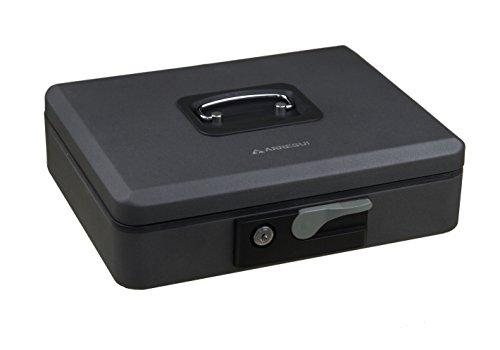Arregui C9746 Caja de caudales de Acero Grafito con pulsador de Apertura. 300x90x240mm, 300 x 90 x 240 mm