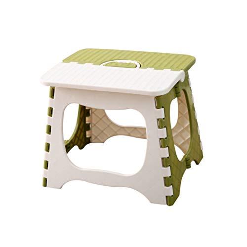 zhouweiwei Klappbarer Tritthocker Faltbarer tragbarer Kleiner Stuhl Stuhl aus Kunststoff für Kinder Kinder Erwachsene im Freien Badezimmer Reisen