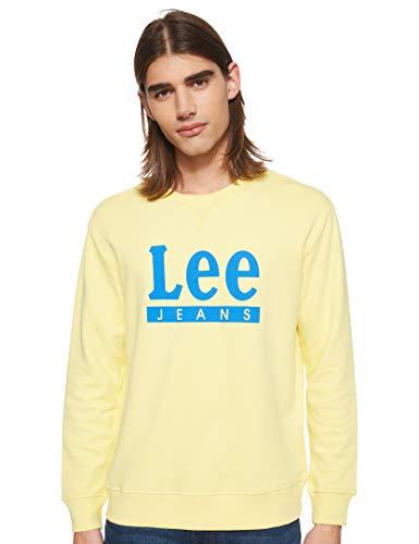 Lee Basic Graphic Crew Sudadera, Amarillo (Yellow Sign Ln), Small para Hombre