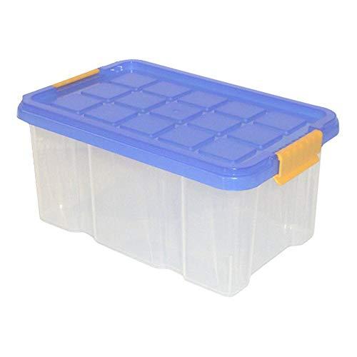 axentia Aufbewahrungsbox Universal und stapelbar mit Deckel, Anzahl: 12 Stück, 30 x 14 x 15 cm