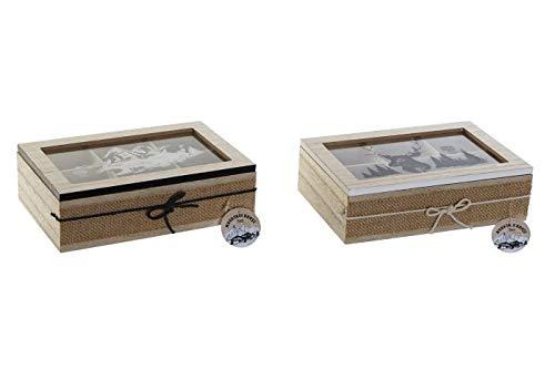 takestop Caja porta bolsas de The e Infusiones de madera, 23 x 15,5 x 6,5 cm, modelo aleatorio