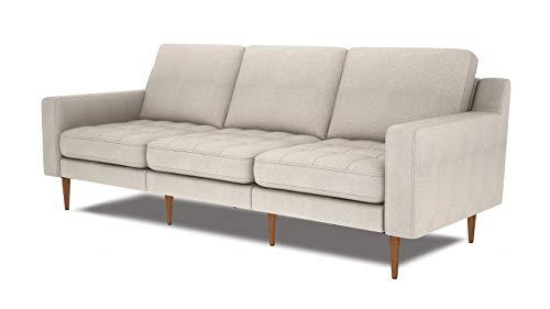 Canapé modulable 3 places Beige Tissu Moderne Confort