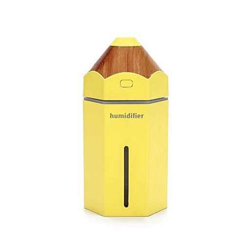 HJF ultrasone luchtbevochtiger, 230 ml, 7 LED-lampen, kleurverandering, instelbare nevelmodus, draagbaar, luchtreiniger, automatisch sluiten, zonder water met cartoon-motieven