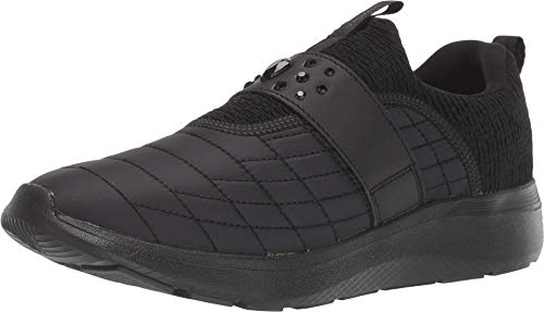 Vionic Women's Delmar Dianne Walking Shoes - Ladies Casual Sneakers with Concealed Orthotic Arch Support Black 8.5 M US