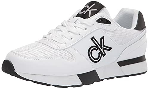 Calvin Klein Herren Arlo Sneaker, Weiß, 41.5 EU