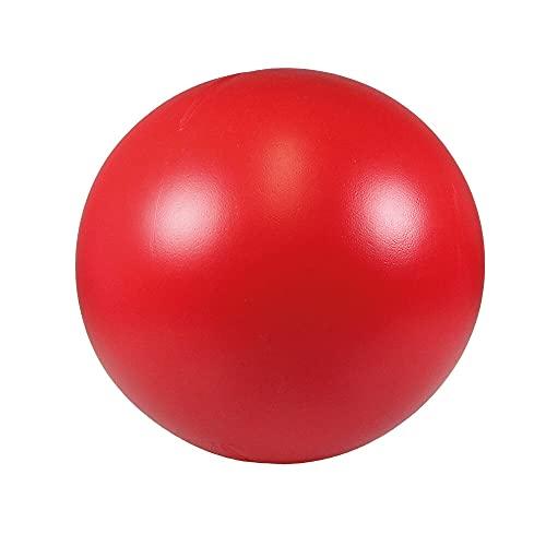 Schecker Treibball in Rot für Hunde aus hartem Kunststoff 28 cm