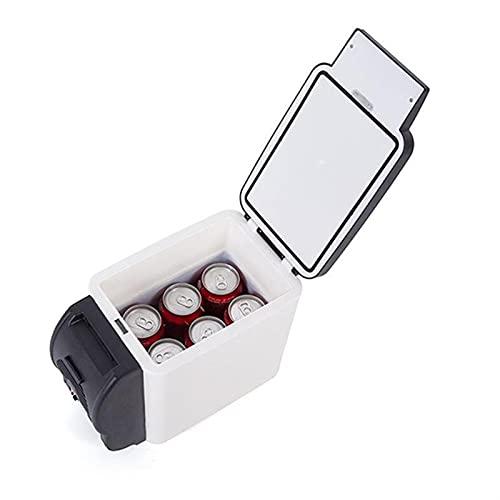 RURUZI Refrigerador de coche de 6 l para coche, 12 V, multifunción, refrigerador para el hogar, calentador con 4 agujeros para beber, nevera eléctrica para coche, congelador (nombre de color: negro)