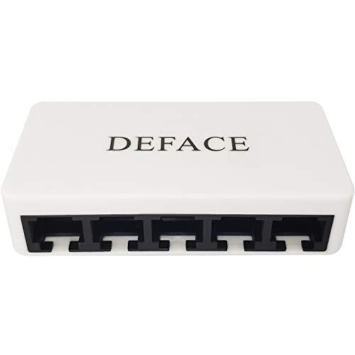 Adaptador de conectores RJ45 divisor 1 a 4 Ethernet Splitter Acoplador USB Ethernet Switch compatible con Cat5 Cat6 Cat7 Cable con...