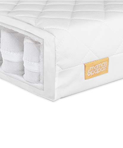 Mamas & Papas Baby Essential Pocket Spring Mattress for Cot, Nursery Furniture – 120 x 60 x 10cm