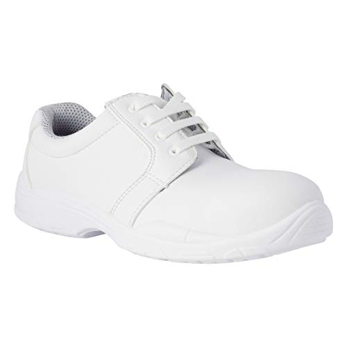 REPOSA Work Zapatos de Trabajo, Zapatos Cerrados con Cordones, con Puntera, Parte Superior de Microfibra Transpirable, Sanitarios/O con Plantilla anatómica, Transpirables, Suela de PU