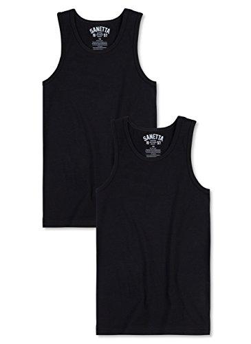 Sanetta Jungen Unterhemd im Doppelpack - super Black (10015), 164