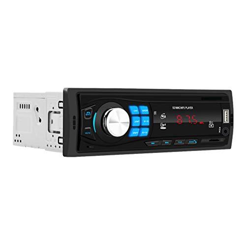 B Blesiya Solo 1DIN Car Stereo Reproductor De MP3 Radio FM Bluetooth USB AUX RCA U-Disk TF
