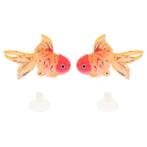 Baoblaze 2 Stück Lebensechte Künstliche Schwimmende Goldfische Dekoration für Aquarium - Typ 3