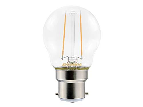 Sylvania Toledo 0027236 Rétro Boule Lampe LED, verre, Home, clair B22, 2 watts