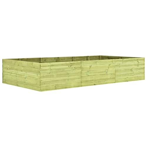 Tidyard Plantenbak Tuinplanter Verhoogd Tuinbed Buiten Balkonplanter 300X150X54 cm Geïmpregneerd Grenenhout