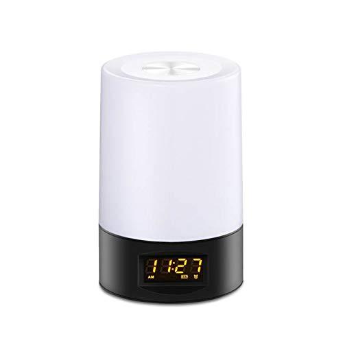 Luz De Despertador con Simulación De Amanecer/Atardecer, Despertador LED con Función De Repetición, 8 Colores, Lámpara De Noche Regulable En El Dormitorio De Adultos para Niños