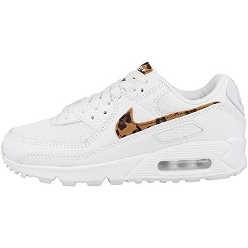 Nike Wmns Air MAX 90 AX, Zapatillas para Correr Mujer, Blanco, 40.5 EU