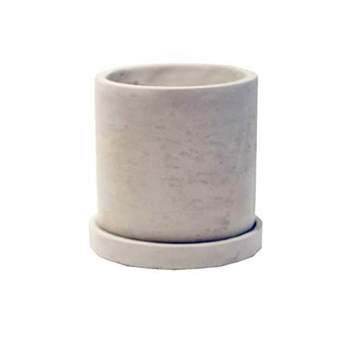 Zidao Moda de Cemento Blanco lechoso Transpirable Maceta de sobremesa Interior del pote de la Planta Verde suculenta Carne Olla de Carne