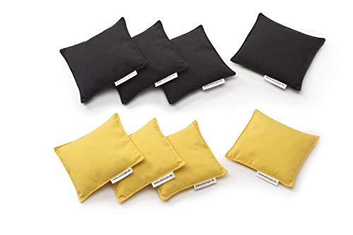 doloops Original Cornhole 8er Bag Set - 4 Schwarze und 4 gelbe Turnierbags als Set