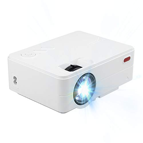 LXLTLB Proyector Teatro en Casa Proyector de Video Admite HD 1080p y 4500 Lúmenes, Admite interfaces HDMI, VGA, USB, Micro SD, RCA AV con Home Theater,Blanco