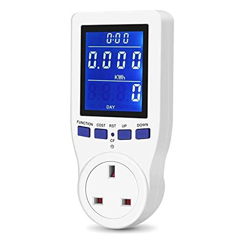 UK Plug Power Meter Energy Monitor