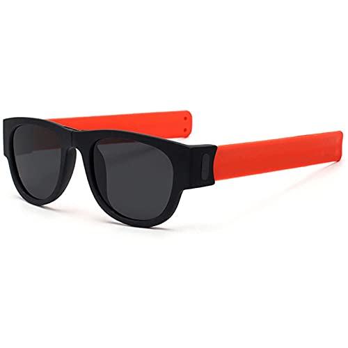 Slapsee Gafas De Sol Polarizadas Unisex Gafas Envolventes Plegables Gafas De Sol Informales para Adultos Y Niños,C