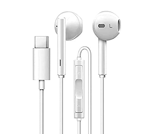 ALMENT Type C Audio Jack Smart Wired Earphone Compatible with One Plus Nord 2 / One Plus Nord CE (5G), HD bass and HiFi Stereo Sports Design Type C Earphones